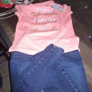 Girl bundle three pieces one new shirt